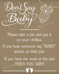 baby shower sign printable don t say baby sign baby shower rustic baby shower