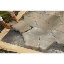 Paving Slabs Lowes by Shop Brock 36 In L X 24 In W Interlocking Paver Base Panel At