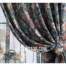 Blue Floral Curtains Creative Of Blue Floral Curtains And Vintage Floral Print Curtains