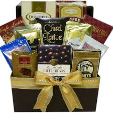 gourmet coffee gift baskets coffee cappuccino latte gourmet snacks gift