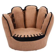 Childrens Faux Leather Armchair Kids Sofa Five Finger Armrest Chair Couch Children Living Room