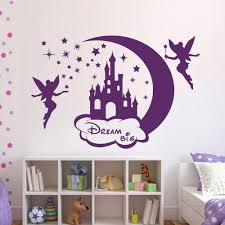 compare prices on fairy murals online shopping buy low price cartoon wall decal castle fairy dream big home decor art murals girl room china