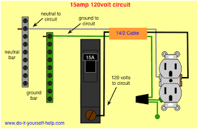 wiring diagram for a 15 amp circuit breaker man cave office