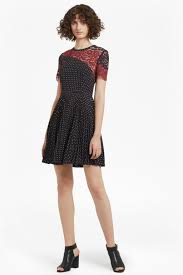 phoebe crepe lace skater dress collections french connection
