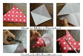 easy crafts for kids how to make a pinwheel one hundred