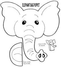 free muppet puppet patterns print elephant puppet