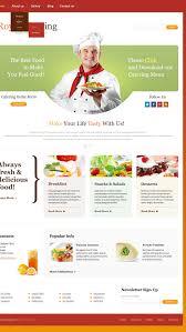 catering responsive website template 44572