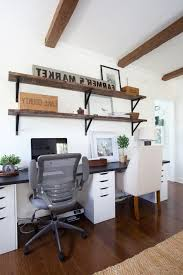 Home Office With Two Desks Best Person Desk Ideas On Pinterest Two Model 65 Regarding Amazing