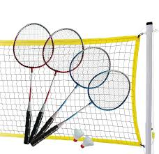 amazon com md sports complete 4 player badminton set sports