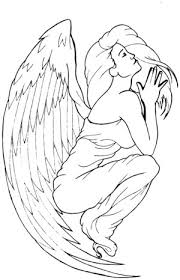 tattoo angel simple nyoba tattoo design