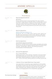 Journeyman Electrician Resume Sample by Apprentice Resume Samples Visualcv Resume Samples Database