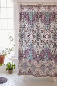 Purple Bathroom Curtains Purple And Green Shower Curtain Visionexchange Co