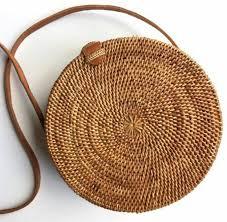 Rattan Baskets by Round Rattan Basket Bag Bohemian Round Shoulder Bag Round