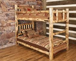Log Twin Lacquered Bunk Bed New Arrivals Back At The Ranch - Log bunk beds