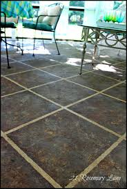 Painting A Cement Patio by 21 Rosemary Lane Looking For A Weekend Project Painted Concrete