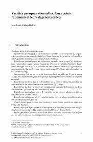 Example Military Resume by Variétés Presque Rationnelles Leurs Points Rationnels Et Leurs