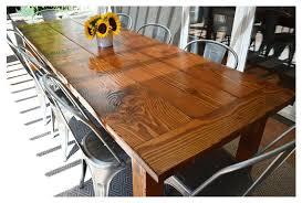 outdoor dining table plans farmhouse table wild ink press outdoor farmhouse table made from