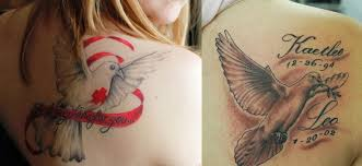 52 dove and cross religious tattoos