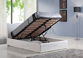 White Small Double Bed Frame by Ottoman Beds With Free Delivery Anywhere In Ireland