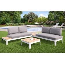Deep Seat Outdoor Furniture by Metal Patio Conversation Sets You U0027ll Love Wayfair