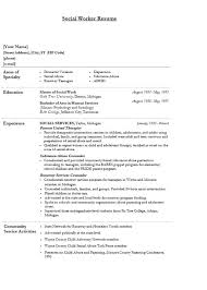 Human Services Resume Samples by Social Work Resume Template