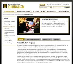 online journalism master s degree the missouri of journalism to create two new online