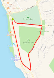 Map Run Route by 4 Great Waikiki Running Routes Hawaii Magazine