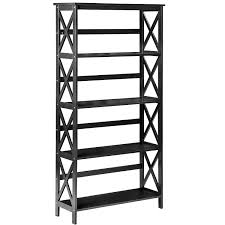 Anna White Bookcase by Merax Wood 5 Shelf Wide Bookcase Rack Shelving Unit Awesome
