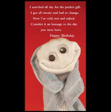quiplip happy birthday greeting card from the sock ems collection