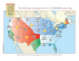 Usa Weather Map by Farmer U0027s Almanac Winter Outlook Waow Weather Blog