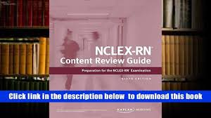 download nclex rn content review guide kaplan test prep kaplan