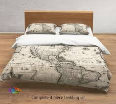 vintage map bedding vintage america old map duvet cover antique