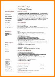 call center manager resume sample call center resume fresh call