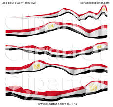 Egyption Flag Clipart Of Egyptian Flag Banners Royalty Free Vector