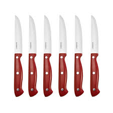 Red Kitchen Knives by Farberware 15 Piece Forged Knife Block Set With Edgekeeper