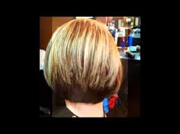short stacked haircuts for fine hair that show front and back stacked bob hair cut youtube