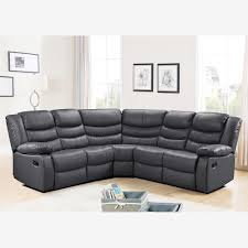 leather corner sofa corner sofa with recliner in grey bonded leather
