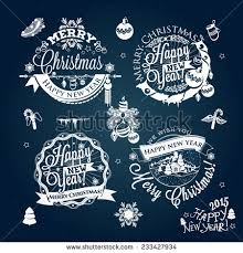New Year Decoration On Blackboard by Vintage Merry Christmas Happy New Year Stock Vector 229546750
