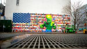 here s why ron english unleashed a baby hulk over a branded here s why ron english unleashed a baby hulk over a branded american flag on manhattan