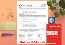 Instant Resume Templates Resume Template Catherine Joe Best Resumes