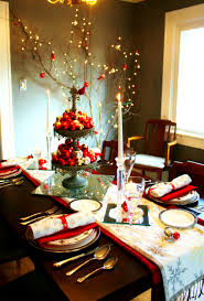 Buffet Dinner Ideas by Furniture Tasty Red Silver Christmas Table Setting How Set For