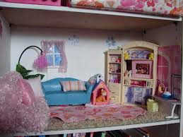 Barbie Home Decoration Diy Barbie House From A Shelf A And A Glue Gun
