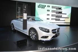 2018 mercedes s class cabriolet parked at iaa 2017 indian autos blog