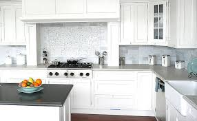 white marble subway backsplash tile backsplash