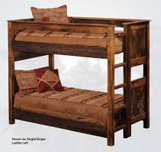 Western Bed Frames Rustic Barnwood Bunk Beds Western Bedroom Furniture Free Shipping