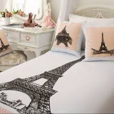 this paris themed comforter on the hunt