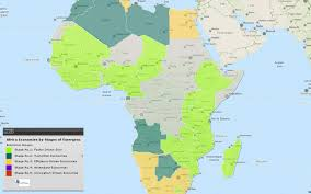 africa map 2014 africa map of map of africa economies by stage of development