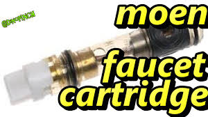 replace moen faucet cartridge part 1200 or 1225 youtube