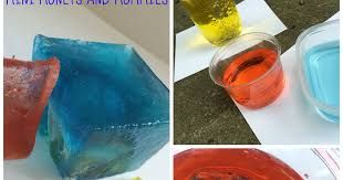 mini monets and mommies frozen color mixing abstract art