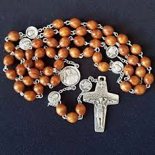 rosaries blessed by pope francis wonderful pope francis rosary vatican wood blessed by pope